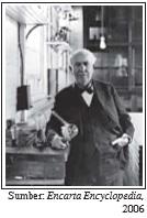 Thomas Alva Edison penemu bohlam lampu yang tidak takut gagal dalam usahanya.