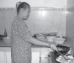 Kegiatan ibu rumah tangga seperti memasak untuk keluarga tidak masuk dalam perhitungan pendapatan nasional.