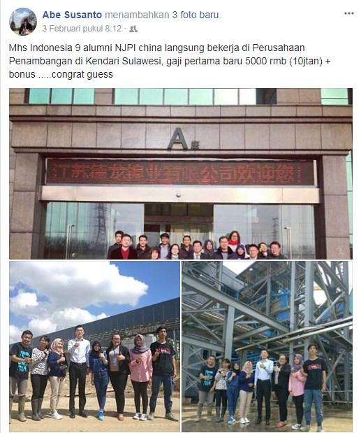 mahasiwa alumni beasiswa njpi china ikatan kerja perusahaan