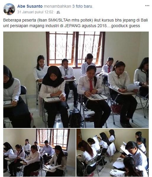 peserta magang jepang slta smk mahasiswa politeknik industri