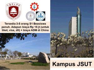 syarat beasiswa s1 TSP JIANGSU UNIVERSiTY OF TECHNOLOGY JSuT Changzhou