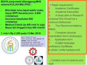 syarat pendaftaran Beasiswa s2 s3 master phd Southwest University of Science and Technology china