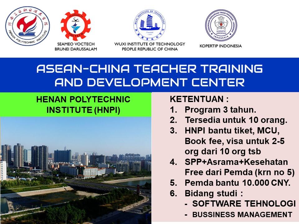 syarat pendaftaran beasiswa d3 Henan Polytechnic University