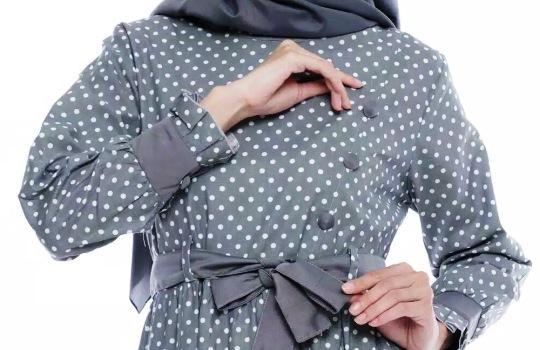 Inspirasi Outfit Hijab Polkadot